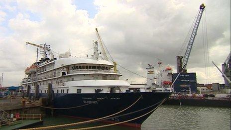 Cruise ship at Portsmouth International Port