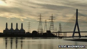 Connah's Quay Power Station as viewed from Dock Road