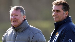 Sir Alex Ferguson and Carlos Queiroz