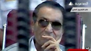 Video frame of Hosni Mubarak (11/05/12)