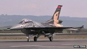 Turkish F16 fighter jet seen here in Ankara