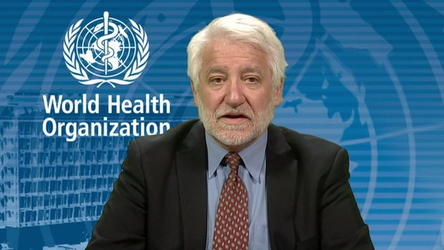 Gregory Hartl from the World Health Organisation