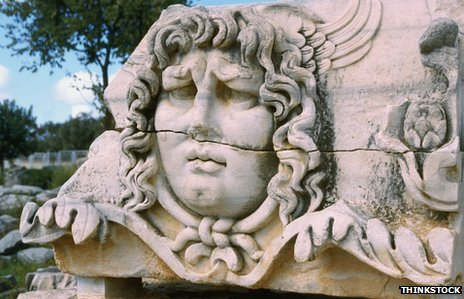 Frieze of Medusa from temple in Turkey