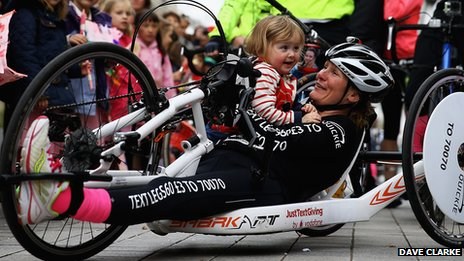 Claire Lomas with daughter Maisie