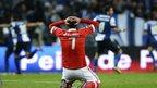 Benfica striker Oscar Cardozo