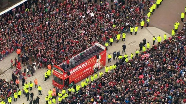 Bus by Old Trafford