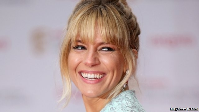 Sienna Miller on the Baftas red carpet