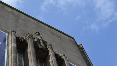Detail of Central police station