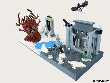 Dante's inferno recreated in Lego