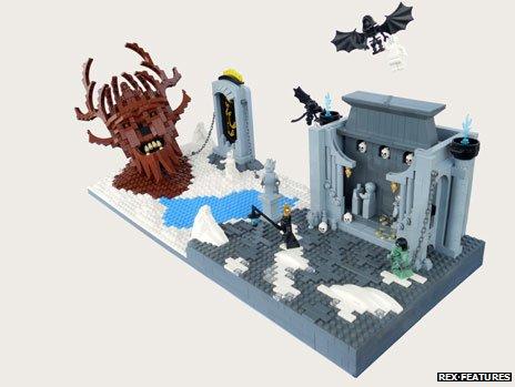 Dante's inferno recreated in Lego