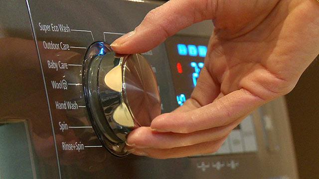 A washing machine control