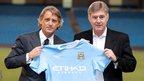 Roberto Mancini, Brian Kidd, Manchester City