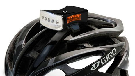 Amelia Boadle's bike helmet light