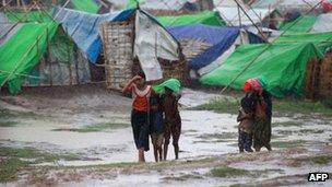 Rohingya Muslims at an internally displaced persons (IDP) camp in Sittwe. Photo: 14 May 2013