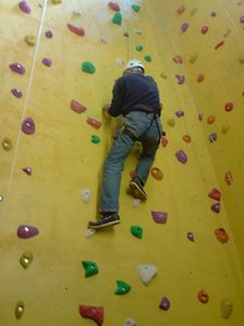 Climbing wall at Holy Trinity Barnstaple