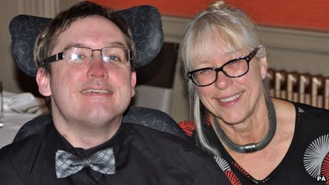 James Kennedy with his mother
