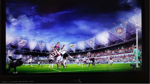 Artist's impression of West Ham at Olympic Stadium