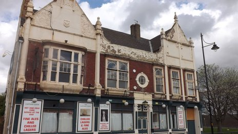 The Captain Cook pub in Middlesbrough