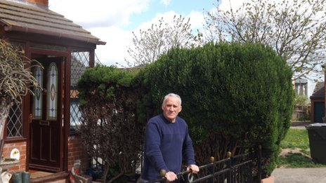 Alan Blackburn outside his home in Tower Green, Middlesbrough