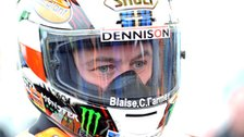 John McGuinness wearing a helmet
