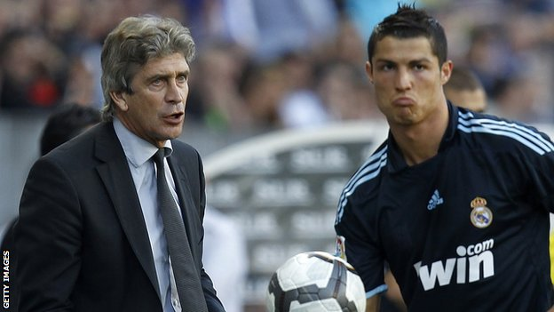 Malaga coach Manuel Pellegrini