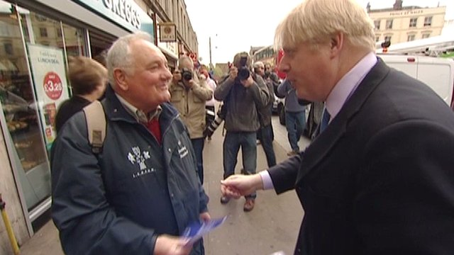 Mayor of London, Boris Johnson, promotes Crossrail 2