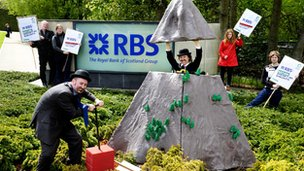 Protest at RBS HQ