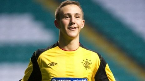 Rangers goalkeeper Blair Currie