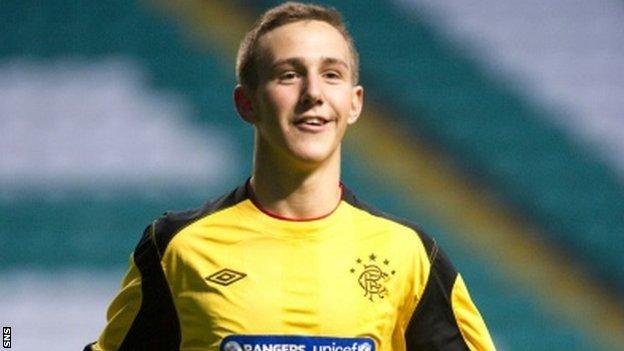 Rangers goalkeeper Blair Currie