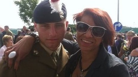 Fusilier David Collins and Lisa Minott