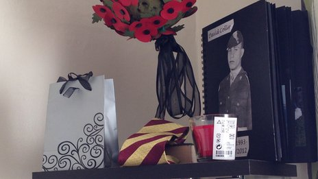 Fusilier Collins' room at the family home is dedicated to his memory