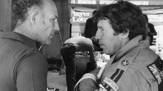 Stirling Moss and Mario Andretti