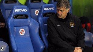 Manchester City caretaker boss Brian Kidd