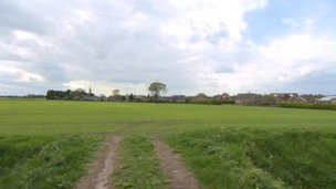 Field where the proposed traveller site would be built