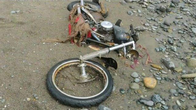Motorbike on beach