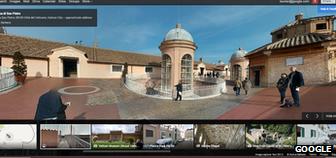 Google Maps image carousel