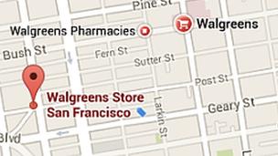 Google Maps blue tag