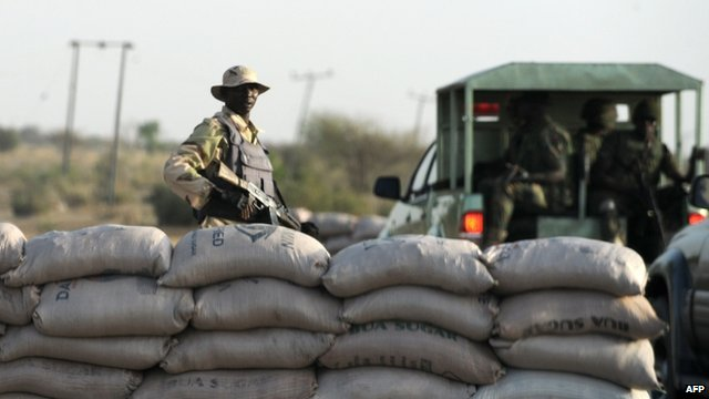 An officer of the Joint Military Task Force in Maiduguri, Borno State