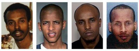Mahamud Said Omar, Abdifatah Yusuf Isse, Salah Osman Ahmed, and Omer Abdi Mohamed (file)