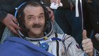 Canadian astronaut Chris Hadfield after landing in Kazakhstan (14 May 2013)