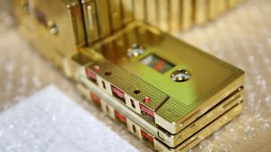 Gold cassette tapes