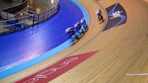 Training at Manchester's velodrome