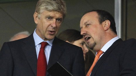 Arsene Wenger and Rafael Benitez