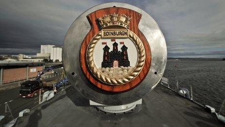 HMS Edinburgh's crest