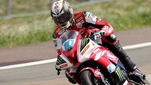 Conor Cummins in action at the North West 200 Tuesday practice session 