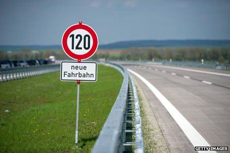 German speed limit