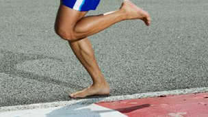 how to run barefoot safely