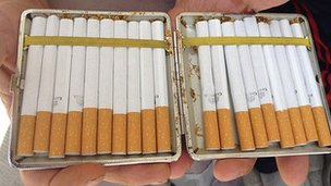 Home-made cigarettes in Bulgaria