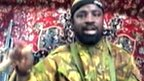 Abubakar Shekau - from a video released on 13 May 2013