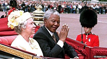 Queen and Nelson Mandela
